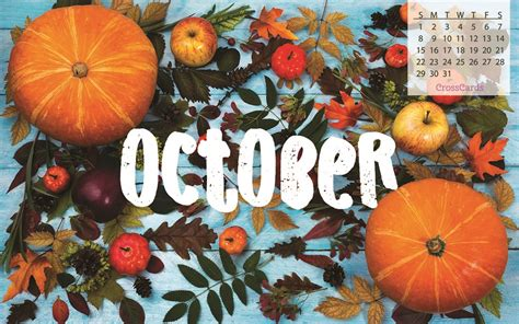 Calendar October 2017 Wallpaper October 2017 Fall Foliage Desktop Calendar Free October