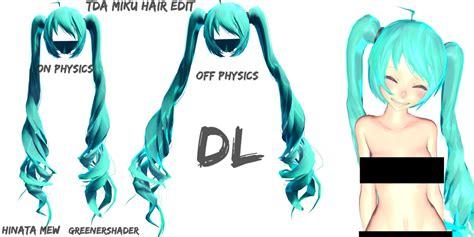 mmd base hair mmd tda miku hair dl by hinatamew on deviantart