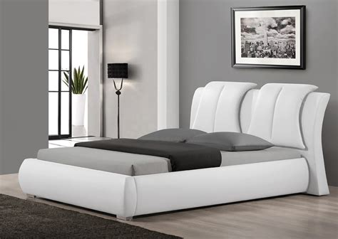 leather beds sunset modern white leather bed