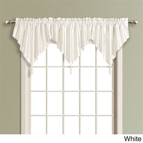 Ascot Valance United Solid Color Faux Silk Ascot Valance With
