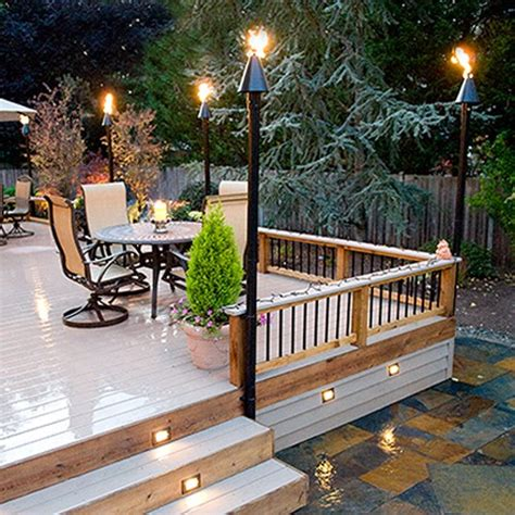tiki torches patio modern patio outdoor