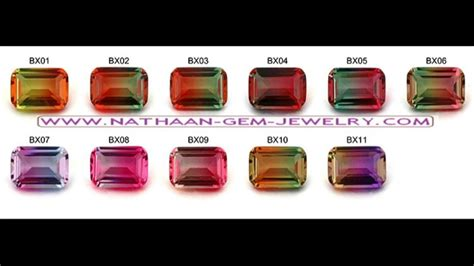 Bi Color Tourmaline bi color tourmaline gemstones as well as in lab