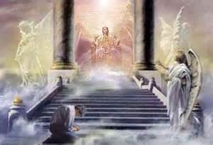 bildvision ich sah jesus christus auf seinem thron