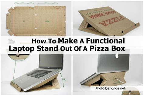 How To Make A Pizza Box Out Of Paper - how to make a functional laptop stand out of a pizza box