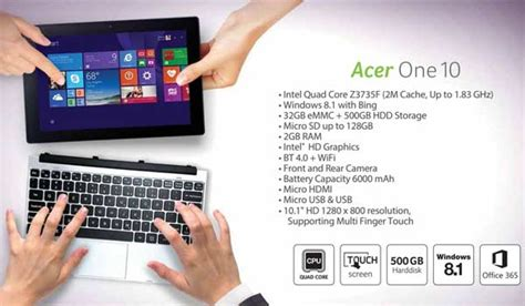 Keyboard Acer One 10 S100x 8 best 2 in 1 laptops to buy rs 30 000