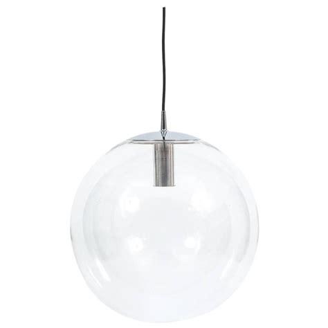large clear glass pendant light large limburg clear glass pendant light at 1stdibs
