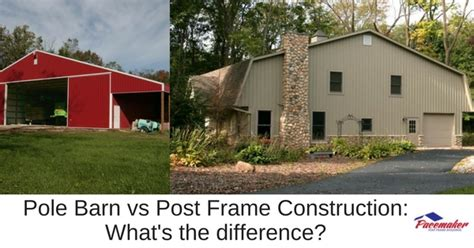 Whats A Barn Pole Barn Vs Post Frame Construction What S The Difference