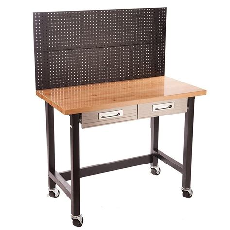 seville bench seville classics ultrahd workbench with peg board and
