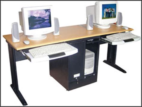 two person computer desk benefit and configuration