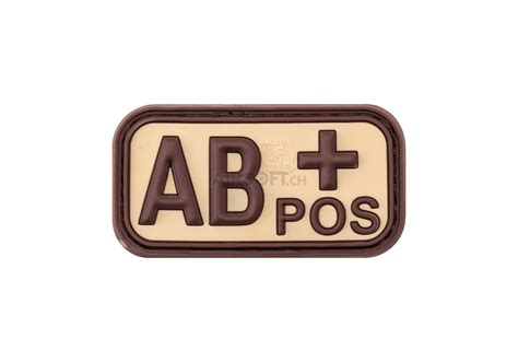 Rubber Pvc Patch Blood Type Ab Pos 1 bloodtype rubber patch ab pos desert jtg patchs caoutchouc patchs marquage 201 quipements