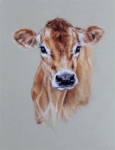 Boneka Anjing Realistic Detail Original Classic Soft jersey cow original pastel portrait pinteres