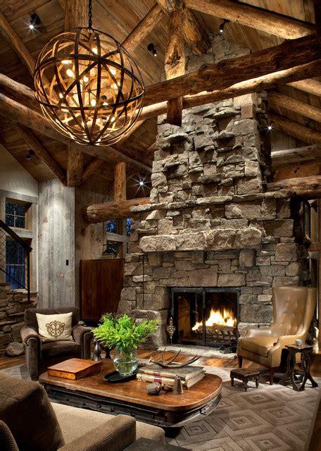 great room fireplace rustic living room atlanta