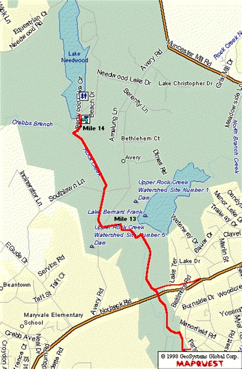 maryland bicycle map the rock creek trail maryland northern