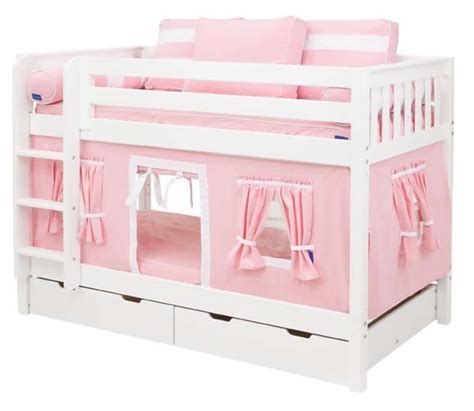 playhouse bunk beds pink and white playhouse bunk bed in white by maxtrix kids