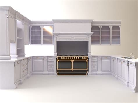 Kitchen Cabinet Models by Kitchen Cabinets Appliances 3d Model Max 3ds Cgtrader Com
