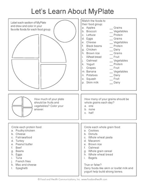 printable nutrition puzzles for adults myplate kids color handout tearpad food groups and