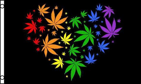 Where To Buy Love To Shop Gift Card - rainbow heart marijuana leaf flag 3x5 ft love valentine colors mj leaves weed ebay