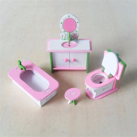 bathroom sets for girls girls doll bathroom furniture toys 4pcs set wooden bathtub