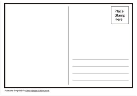 Template You Can Use To Make Your Own Postcards Craft Ideas Pinterest Make Your Own Postcard Template Free