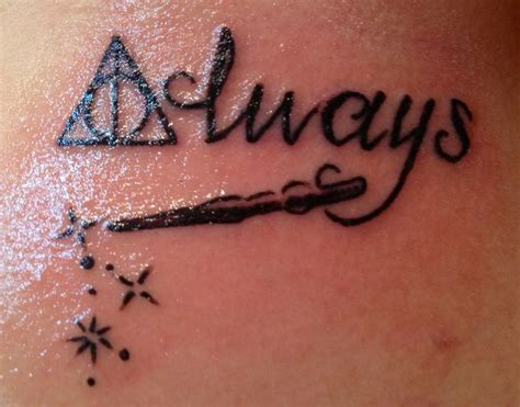 harry potter wand tattoos my daughters new deathly hallow symbol with