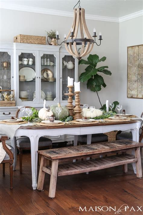 room decoration ideas for 30 fall dining room and tablescape ideas