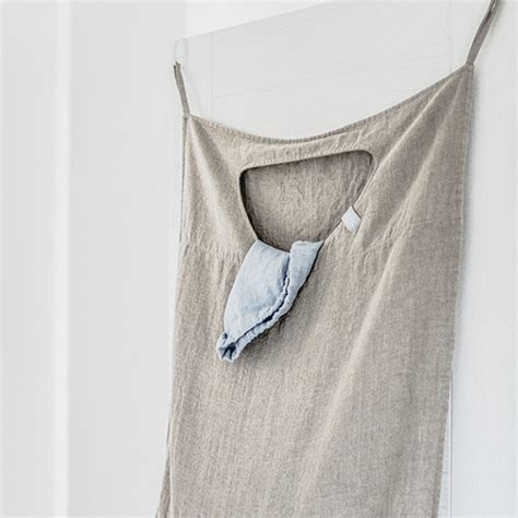 Natural Hanging Linen Laundry Bag Linen Laundry