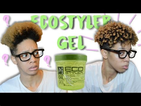 styling gel pitch black afro styling with eco styler gel short natural hair youtube