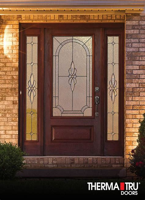 therma tru exterior doors fiberglass 18 best classic craft mahogany collection images on