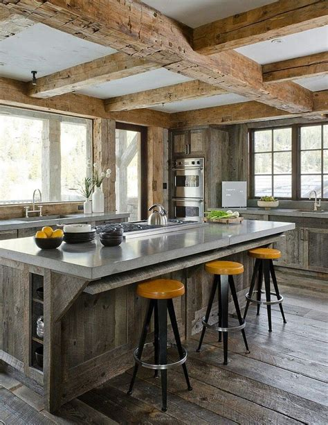 Rustic Modern Kitchen Cabinets Modern Rustic Cottage Kitchen Design Pinterest