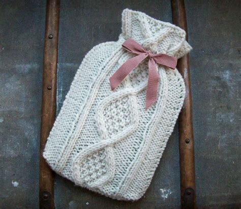 Knitting Pattern Hot Water Bottle Cover | hot water bottle cozies to knit 26 free patterns