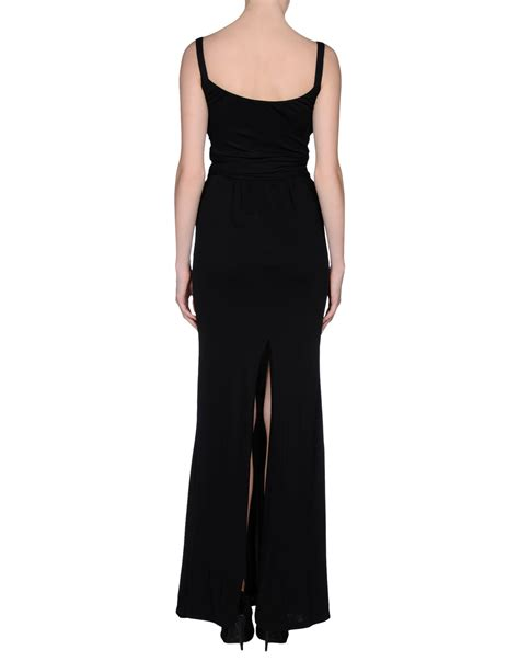 Longdress Gucci With Label lyst gucci dress in black