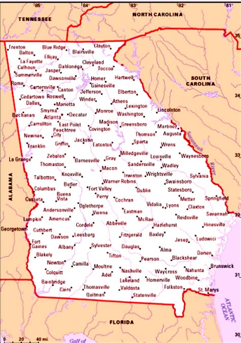 map of georgia cities cities in georgia usa map of georgia cities cities in georgia usa