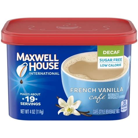 maxwell house instant coffee maxwell house 174 international caf 233 french vanilla beverage mix sugar free instant