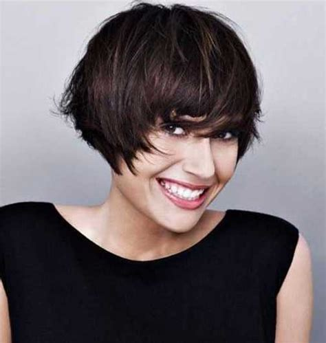 hairstyles for thick hair and fringe fabulous short hairstyles for thick hair hairstylesco