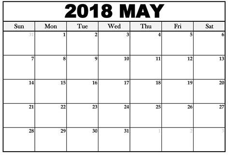 blank calendar template 2018 uk free 5 may 2018 calendar printable template pdf source