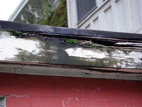 woodworking repair soffit and fascia repair wood rot caused by gutter leak