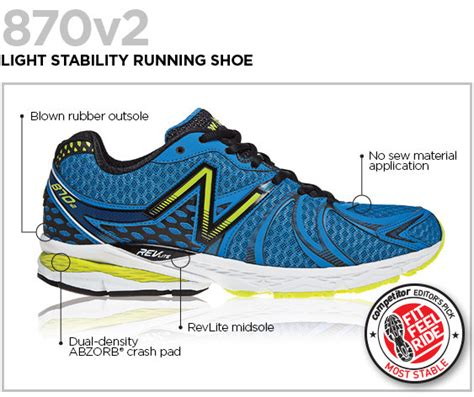 light stability running shoes new balance s m870v2 light stability running shoe