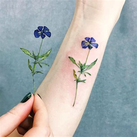 pansy flower tattoo best 25 flower tattoos ideas on delicate