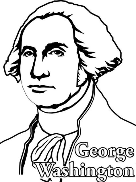 president george washington coloring pages free printable
