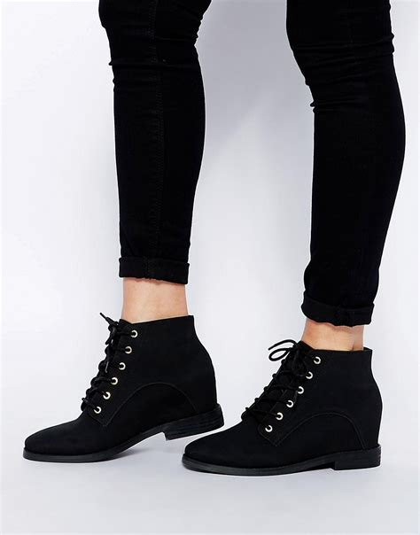 asos asos riddle wedge ankle boots at asos