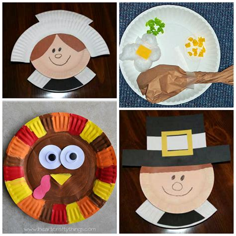 Pilgrim Paper Plate Craft - thanksgiving paper plate crafts for crafty morning