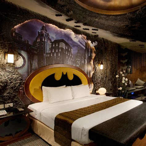 the furniture cove batman bat batman themed hotel room strange beaver