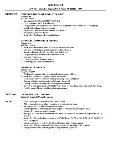 Firmware Developer Resume firmware developer resume sles velvet