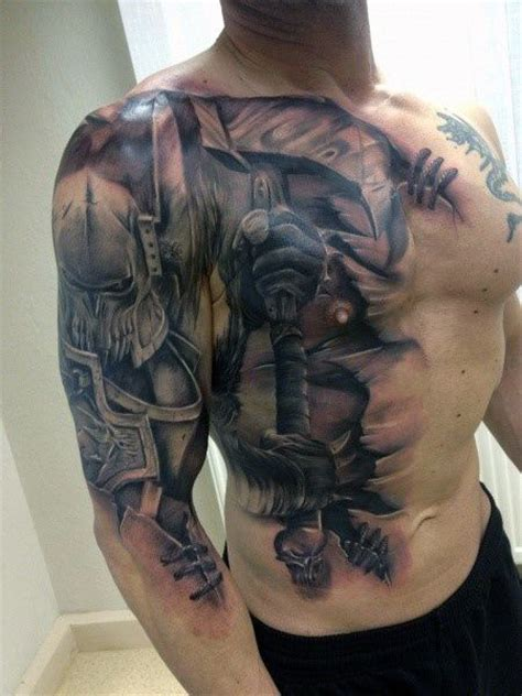 pinterest tattoo warrior battle warrior tattoo sleeve cool sleeve ideas