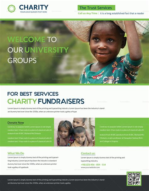 Helpful Charity Fundraisers Flyer Design Template In Psd Word Publisher Illustrator Fundraiser Flyer Templates Photoshop