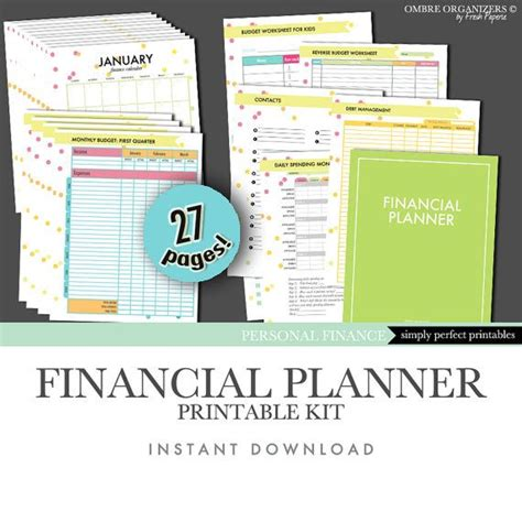 printable financial planner free 17 best images about printable things on pinterest
