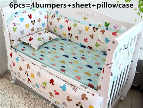 discount nursery bedding sets discount 6pcs mickey mouse baby bedding set cotton baby boys nursery cot bedding include