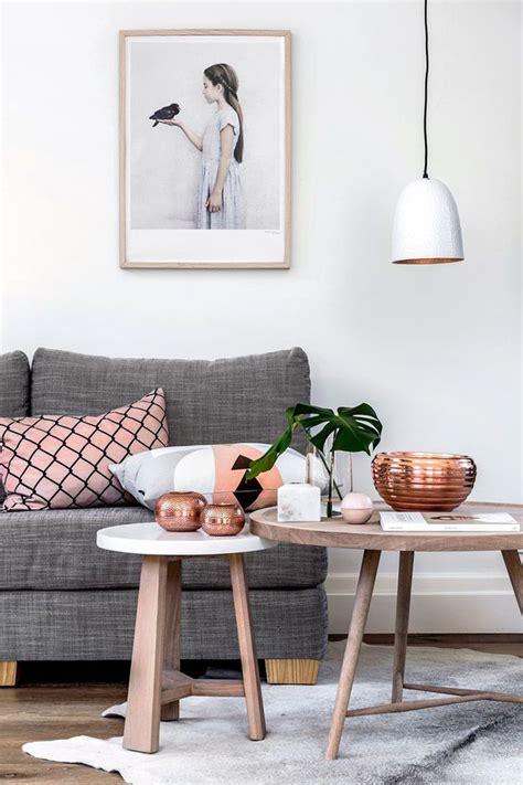 copper living room du dans la d 233 coration pink accents copper and grey