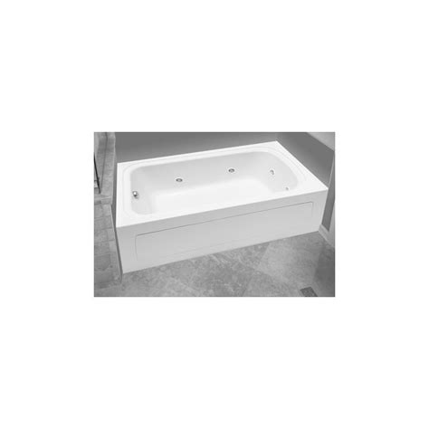 proflo bathtub proflo pfw6032alskwh white 60 quot x 32 quot alcove 8 jet whirlpool bath tub with skirt left hand drain