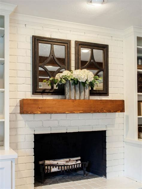 fixer upper a fresh update for a 1962 quot shingle shack brick fireplace with wood mantel foreverflowersmd us